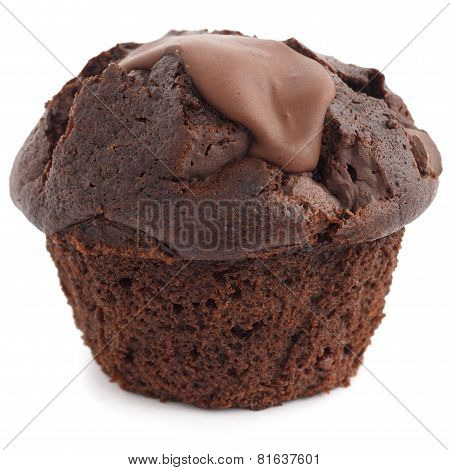 Chocolate chip muffin unwrapped