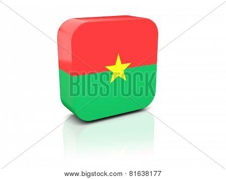 Square Icon With Flag Of Burkina Faso