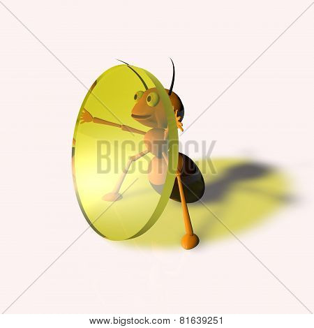 ant with a lens