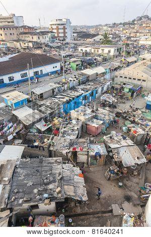 Cape Coast Cityscape, Ghana