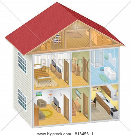 Isometric House Interior