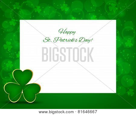 St Patrick's Background With Card