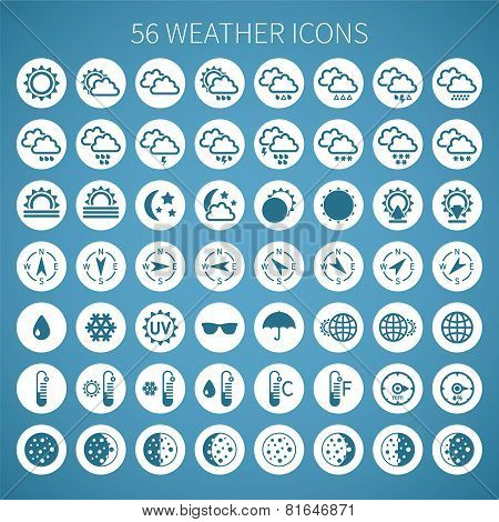 Vector Weather Icon Set For Widgets And Sites.