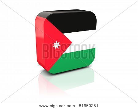 Square Icon With Flag Of Jordan