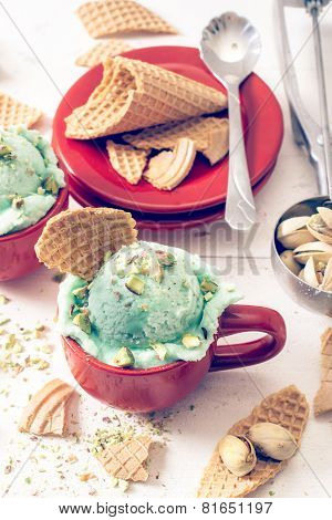 Ice Cream With Pistachios