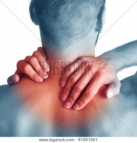 Acute pain in a neck.