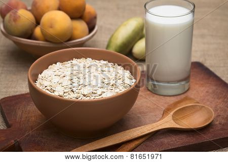 Rolled Oats and Milk