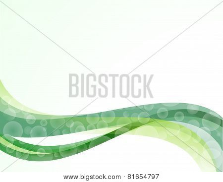 Background abstract green wave bulb,speech,waves