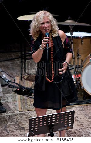 Cinzia Spata At Umbria Jazz Festival In Perugia, Italy