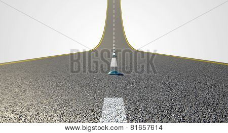 Road Curved Upward
