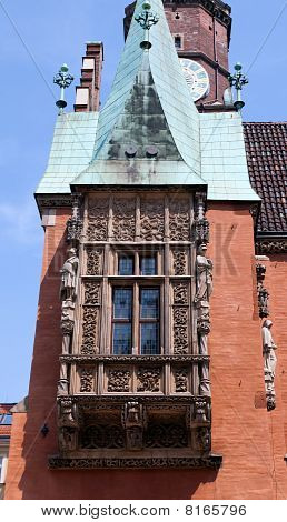 Detail from the City Hall, Wroclaw, Poland