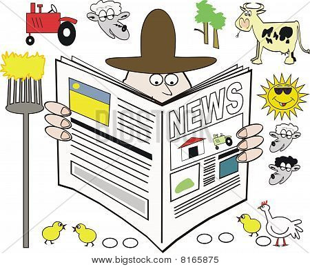 Farming newspaper cartoon