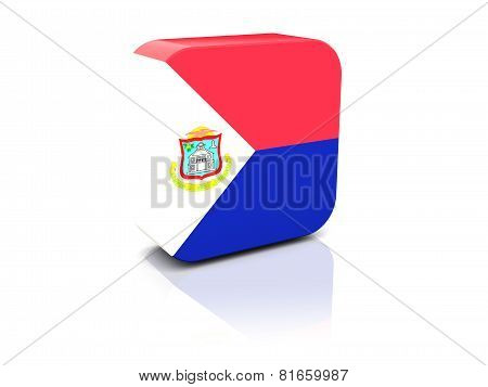 Square Icon With Flag Of Sint Maarten