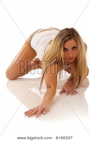 Woman In Lingerie Crawling
