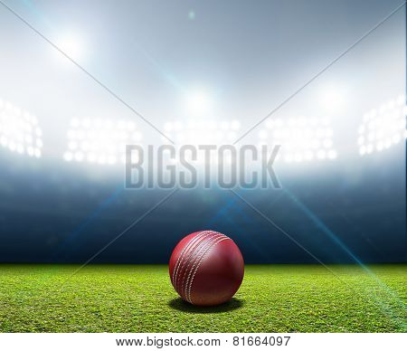 Cricket Stadium And Ball