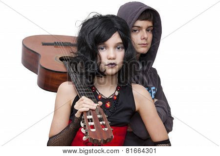 hipster with guitar