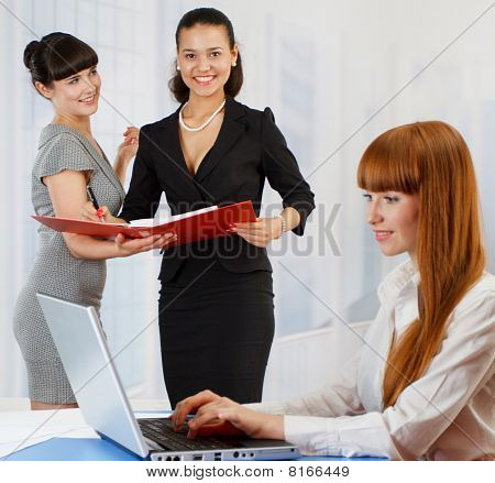 Young Women At The Office