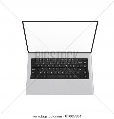 Top view of a laptop