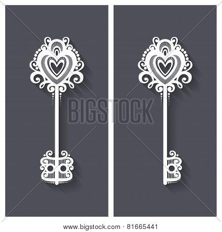 Vector Ornate Antique Key