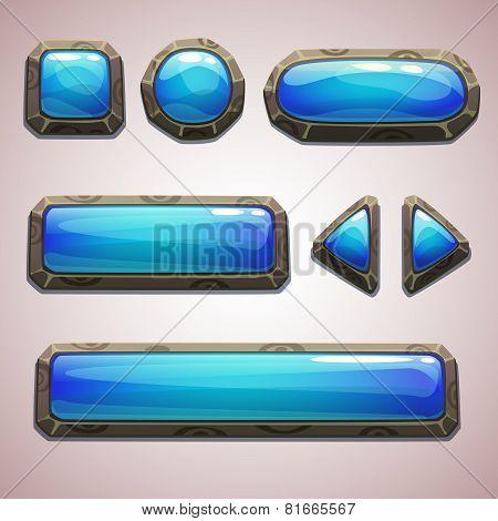 Set of cartoon buttons