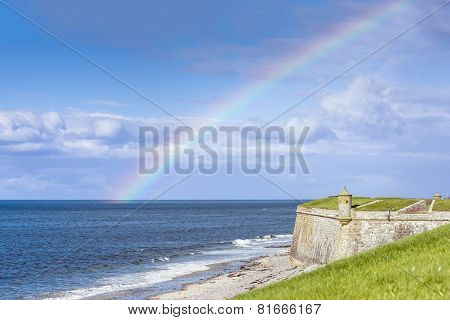 Rainbow Over Fort George, Scotland