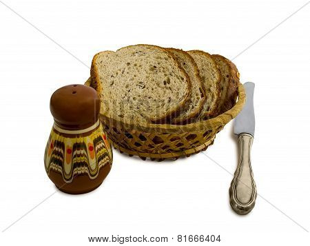 Slices Of Bread In A Basket