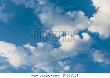 White Clouds In A Sky On A Summer Day