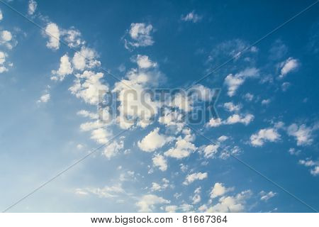 White Clouds, Illuminated By The Sun