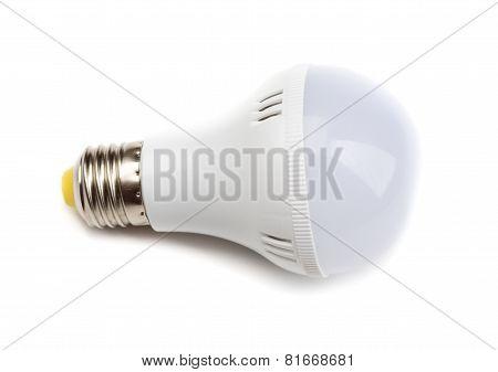 White Lightbulb Isolated On White Background