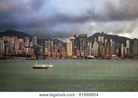 View At Hong Kong From Victoria Harbor