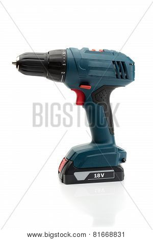 Electric Screwdriver. Isolate On White Background.