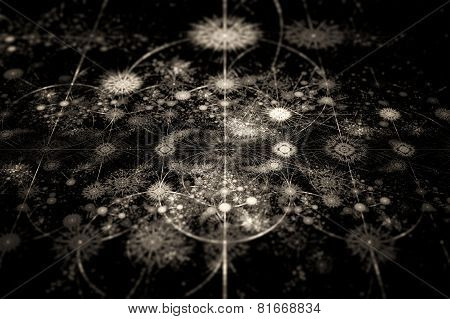 Abstract Fractal Texture In 3D Perspective