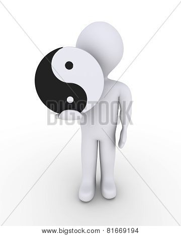 Person Holding Yin-yang Symbol