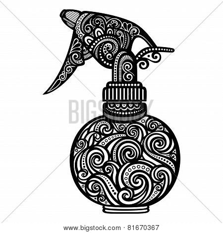 Vector Ornate Pulverizer. Patterned Design