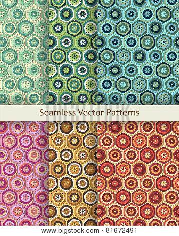 Hexagonal Patterns Set