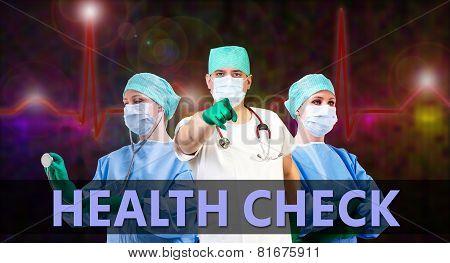Healt Check Medical Background