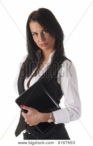 business lady with laptop