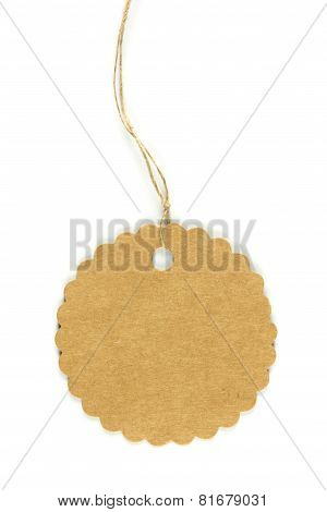A Round Paper Tag