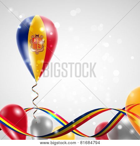Flag of Andorra on balloon