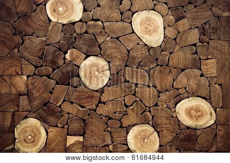 teak wood stump background
