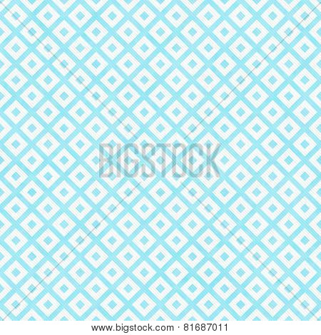 Teal And White Diagonal Squares Tiles Pattern Repeat Background