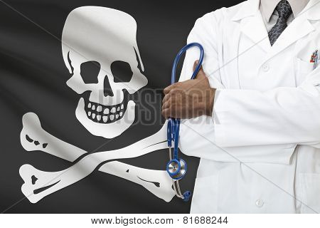 Concept Of National Healthcare System - Jolly Roger As Piracy Symbol