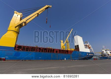 Industry Ship At Port