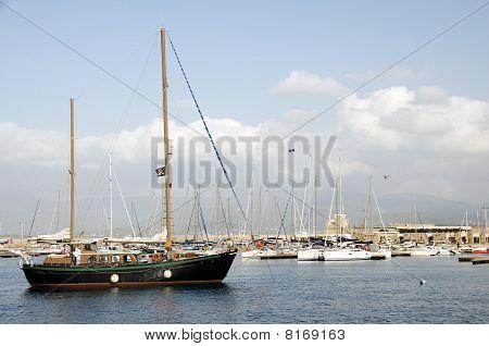 Porto de barcos Ajaccio Córsega França