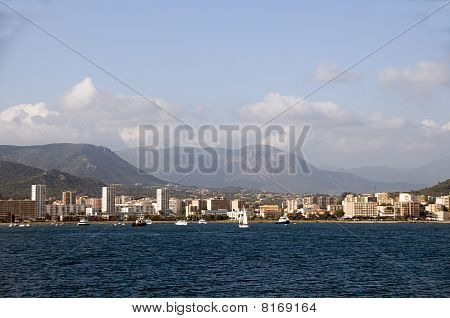 Panorama Waterfront Ajaccio Corsica France