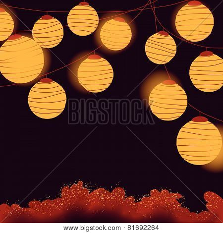 Yellow Lantern Hanging
