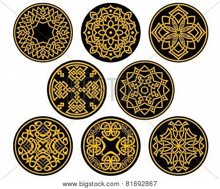 Decorative round intricate patterns