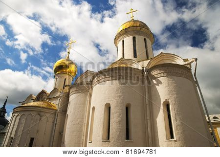 Trinity cathedral in the Trinity Lavra of St. Sergius