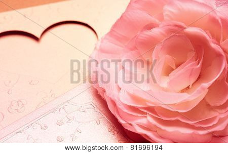 the flower on greeting card pattern of heart for valentine and lovely