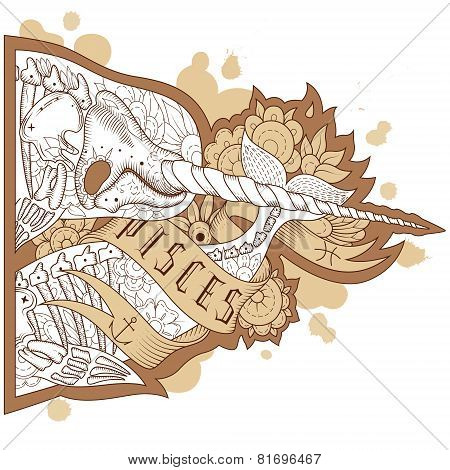 Engraving pisces